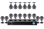 Security camera system with 16 cameras
