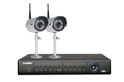 Security camera system with 2 wireless cameras