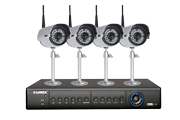 Security camera system with 4 wireless cameras