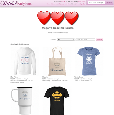 Megan's Beautiful Brides