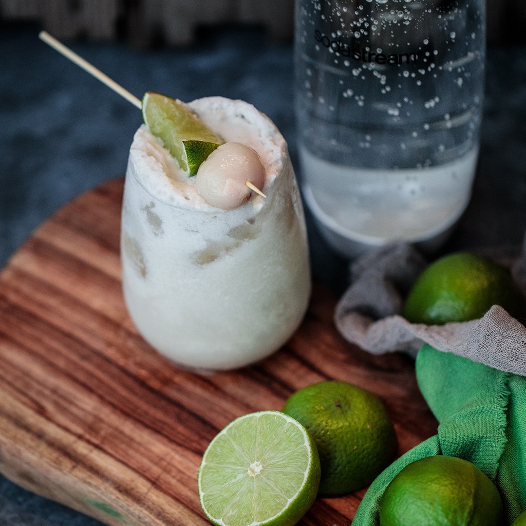 COCONUT LYCHEE RUM SOUR