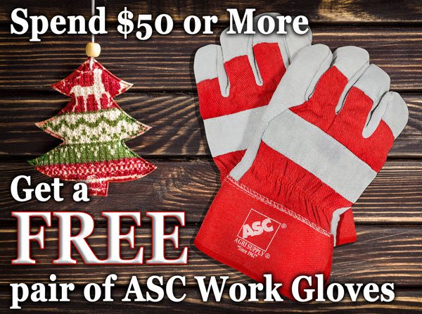 Free pair of ASC Work Gloves with $50 purchase