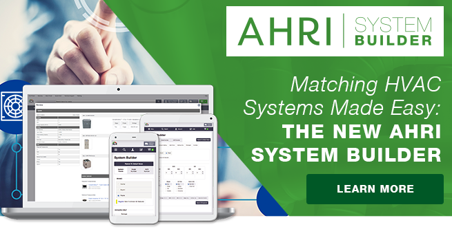 Build AHRI Compatible Systems EASILY