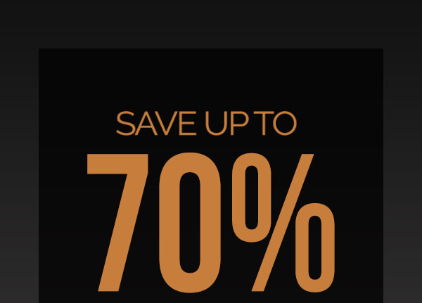 Save Up To 70% On Clearance