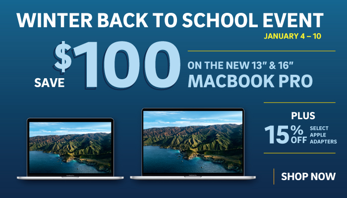 """Save $100 off 16"""" and 13"""" MacBook Pro"""