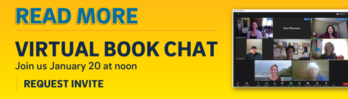 Join our virtual book chat january 20 @ noon
