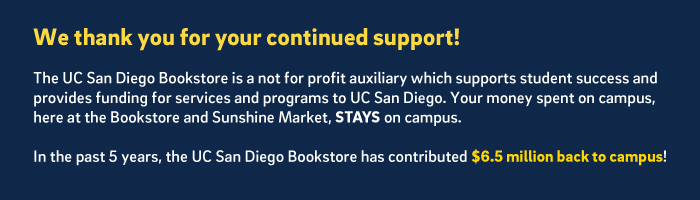 The bookstore is a not for profit campus auxiliary