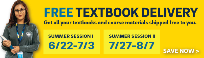 free shipping on textbooks for summer session