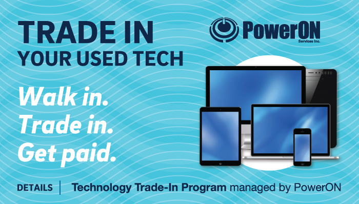 Trade in your used tech - walk in, trade in, get paid!