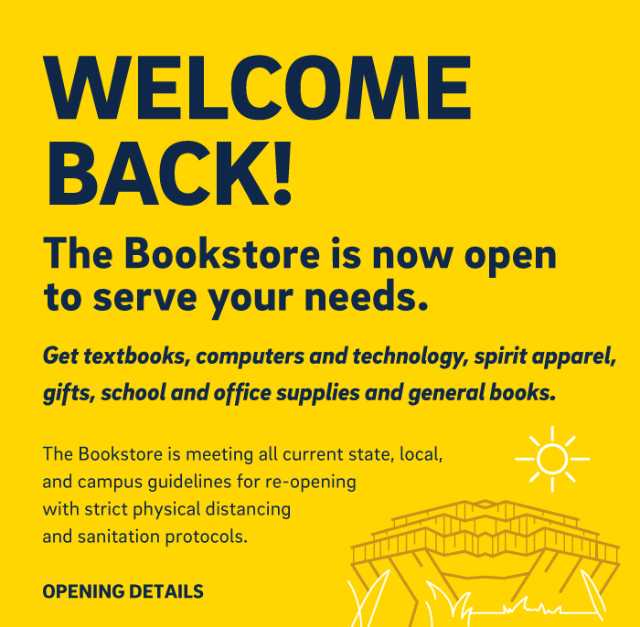 Welcome Back - The Bookstore is now open