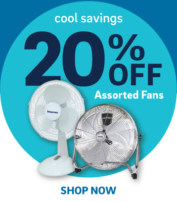 20% off assorted fans