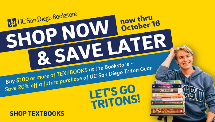 Shop textbooks now, save later on Triton Spirit Gear