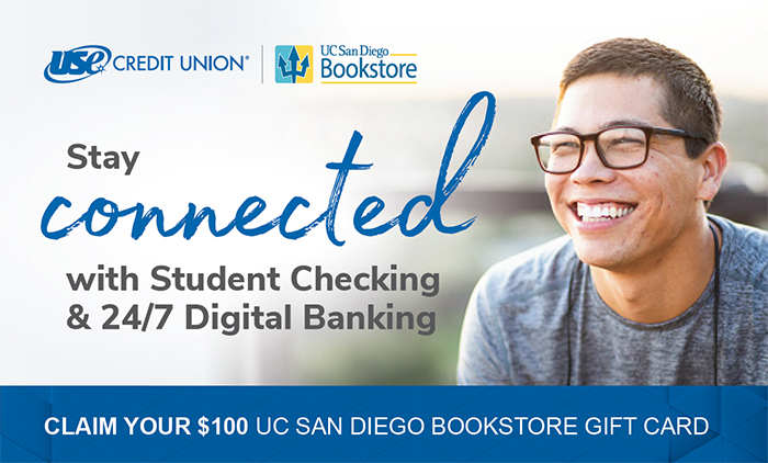 USE Credit Union promo: open a checking account, get a $100 Bookstore gift card!