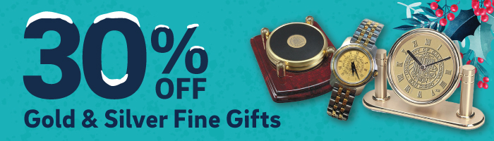 30% off gold and silver fine gifts