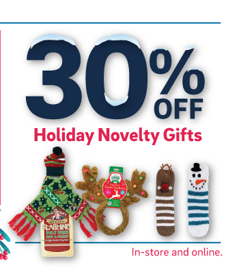 30% off holiday novelty gifts